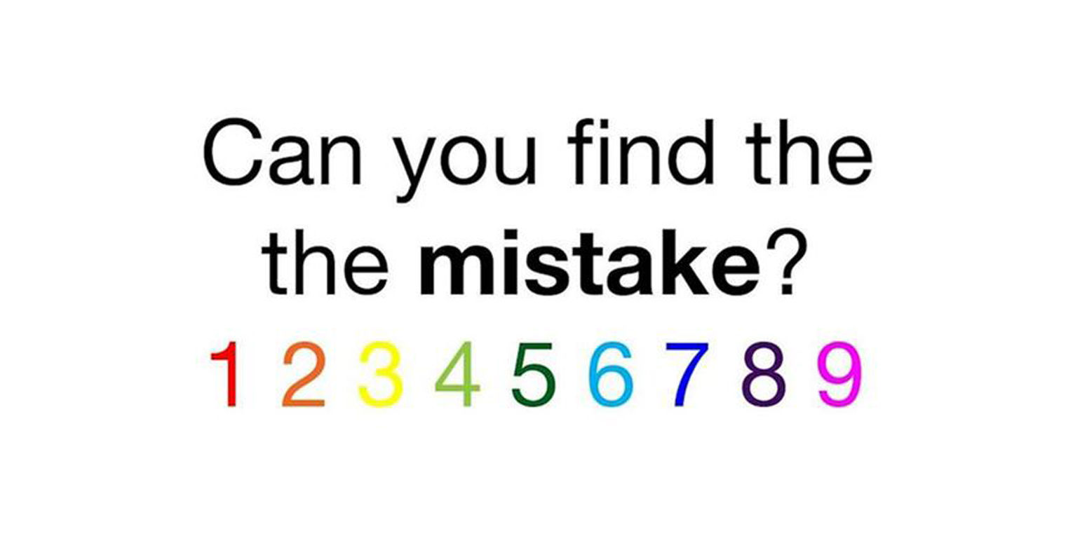 Did You Spot The Mistake In This Puzzle