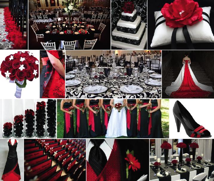 Black White And Red Wedding Theme Ideas Gallery - Wedding Decoration ...