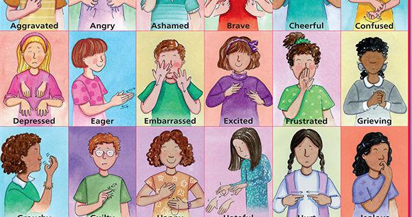 MAKATON Feeling Signs | Makaton printables, Makaton signs ...  |Sign Language Signs For Emotions