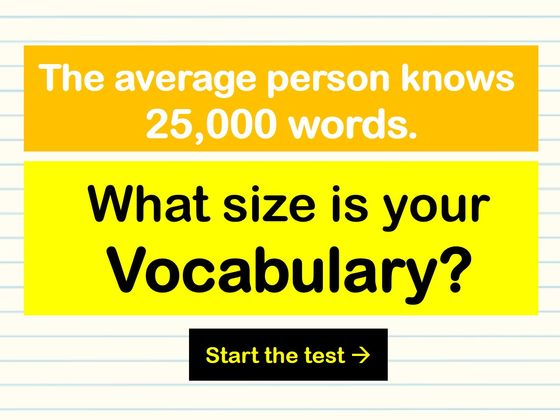 What Size Is Your English Vocabulary?