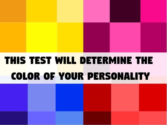 This Test Will Determine The Color Of Your Personality