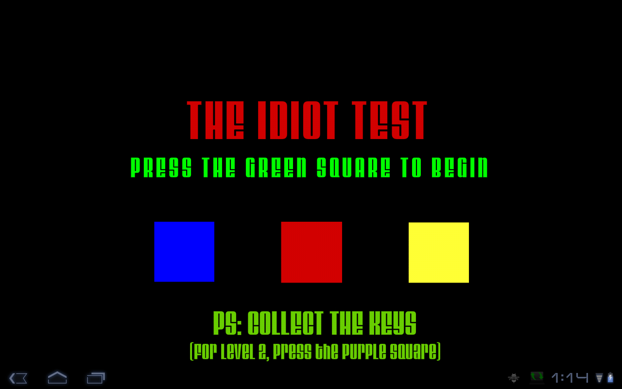 the idiot test