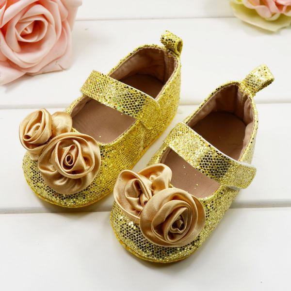 yellow baby dress shoes