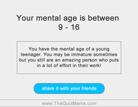 Am I Immature For My Age Quiz