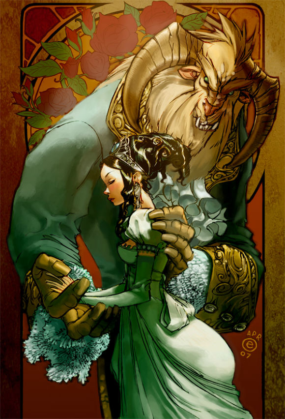 a classic opener for a fairy tale in the case of beauty and the beast The brothers' grimm fairy tails beauty and the beast (version one.