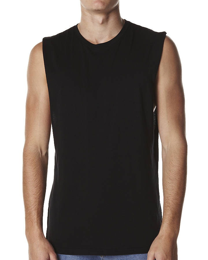 c4fca1753b1395 Buy plain black muscle tee - 60% OFF! Share discount