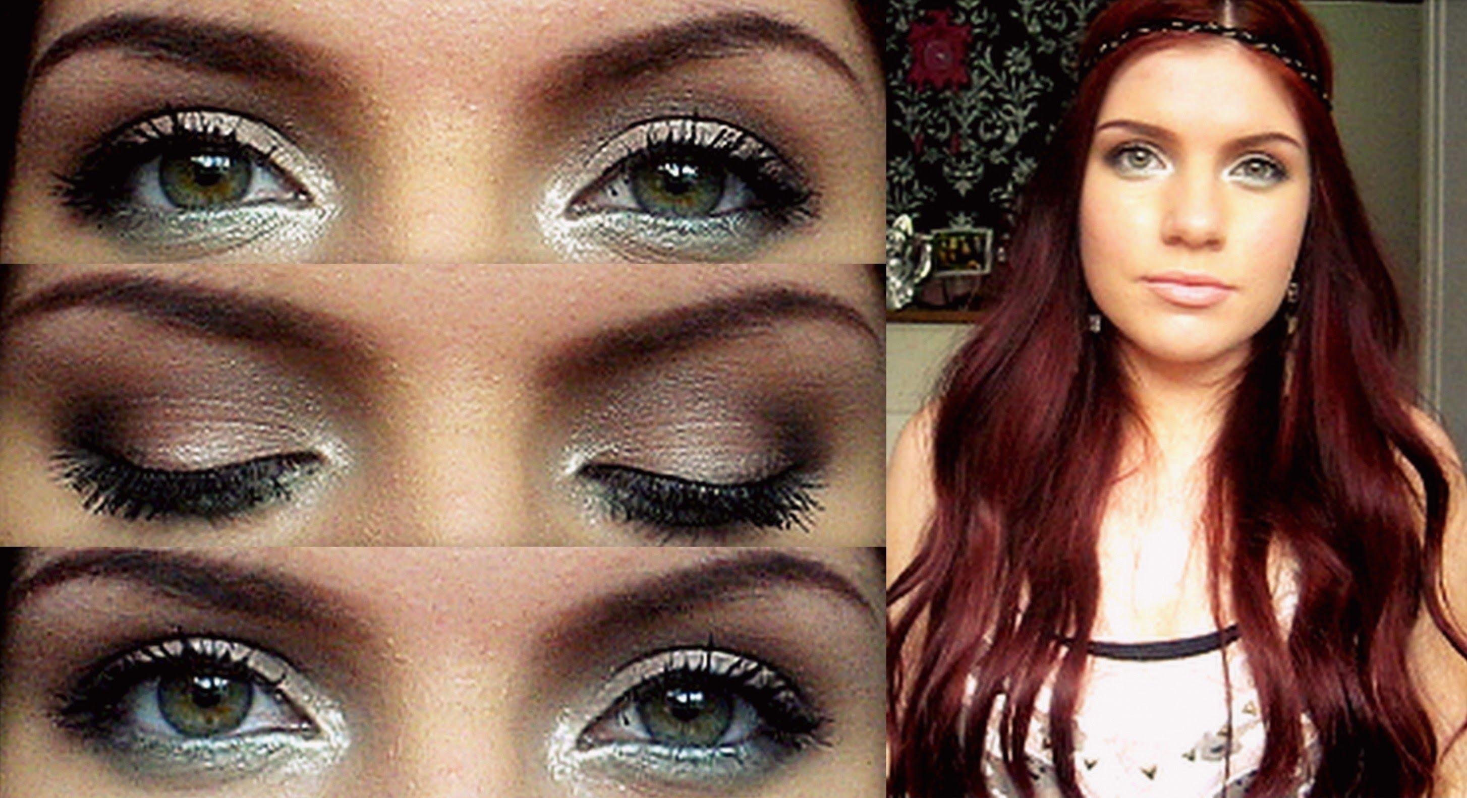 поэтапное фото макияжа зеленых глаз