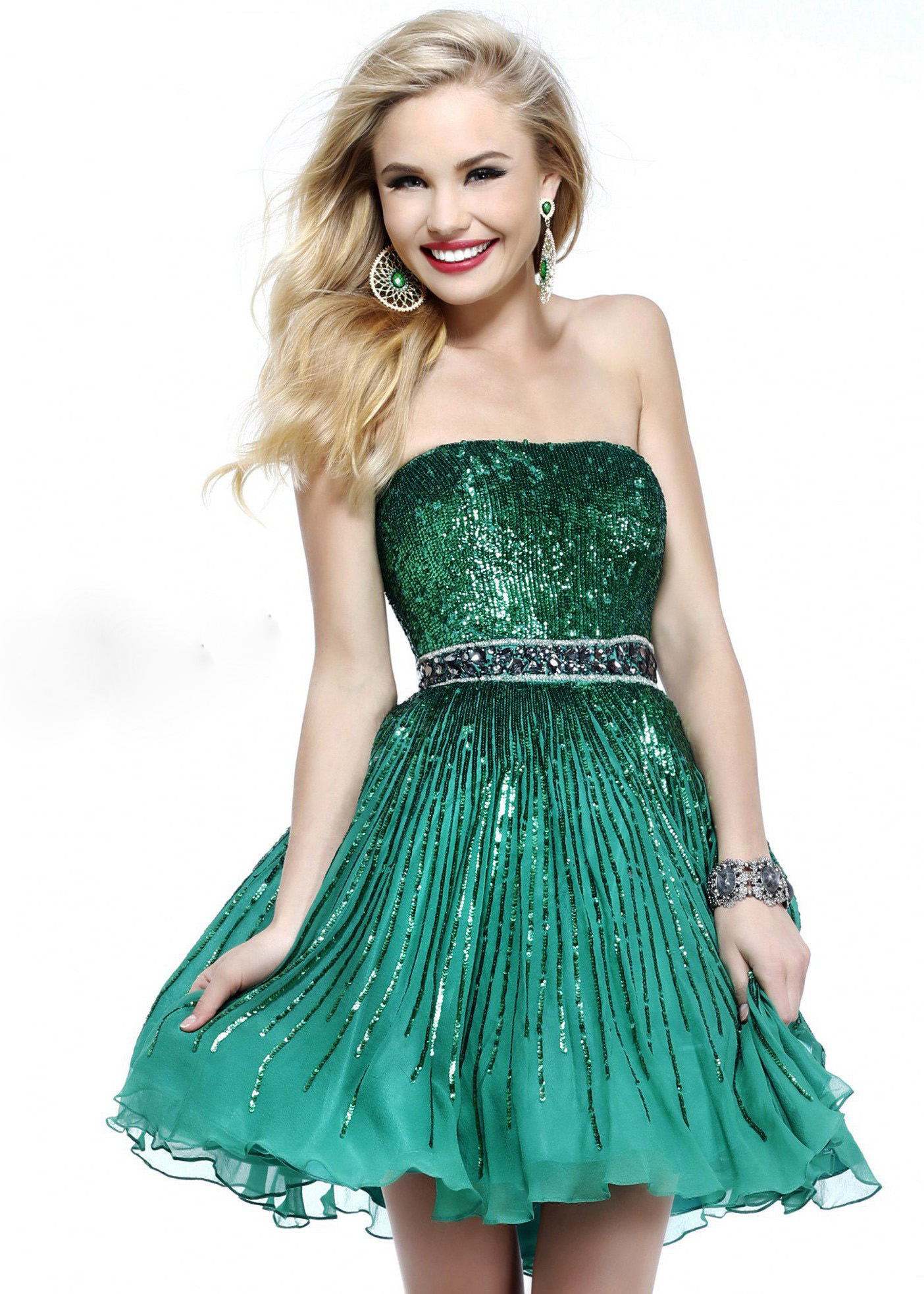 Green Homecoming Dress Photo Album - Klarosa