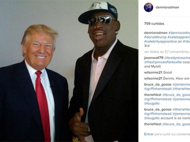 """O ex-jogador da NBA postou em seu Twitter: """"Não precisamos de outro político, precisamos de um empresário como o sr. Trump. Trump 2016"""""""