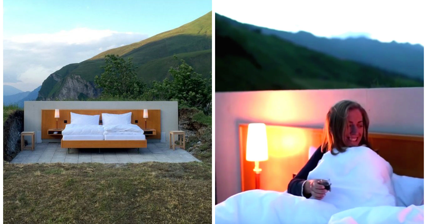 This Swiss Hotel Room Has No Walls No Ceilings And No