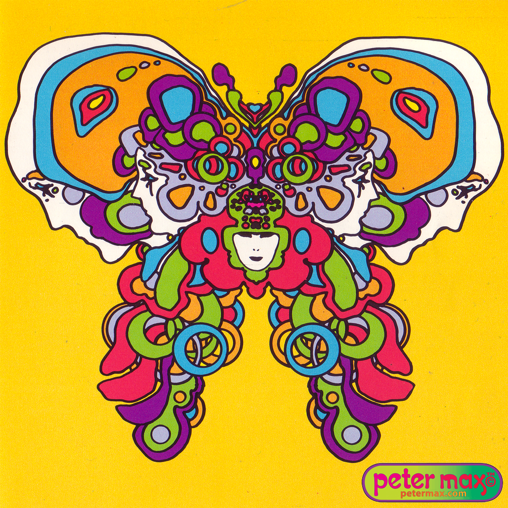 What Did You See First In This Psychedelic Peter Max Illusion