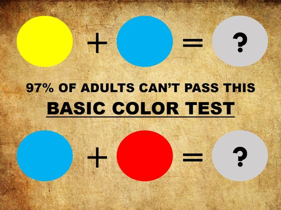 97% Of Adults Cannot Pass This Simple Kids Color Test, Can You?