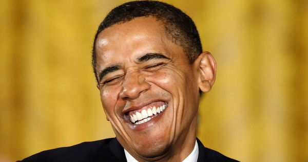Barack obama laughing meme