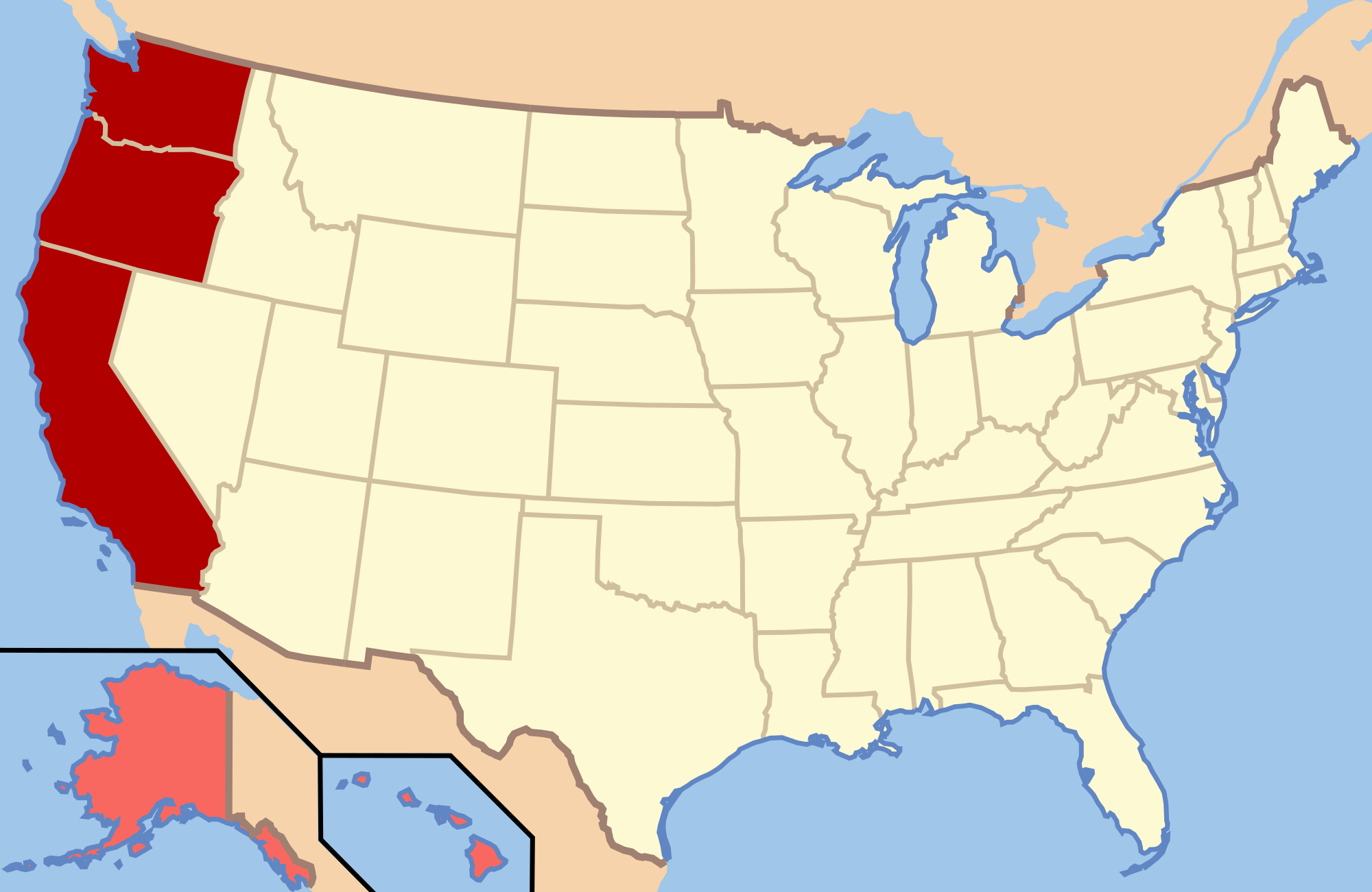 Can We Guess Where In America Youre From Playbuzz - Map of states of usa quiz