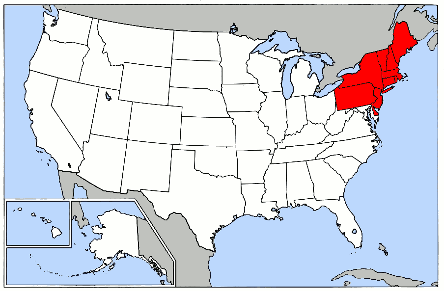 Can We Guess Where In America Youre From Playbuzz - Us northeast region map