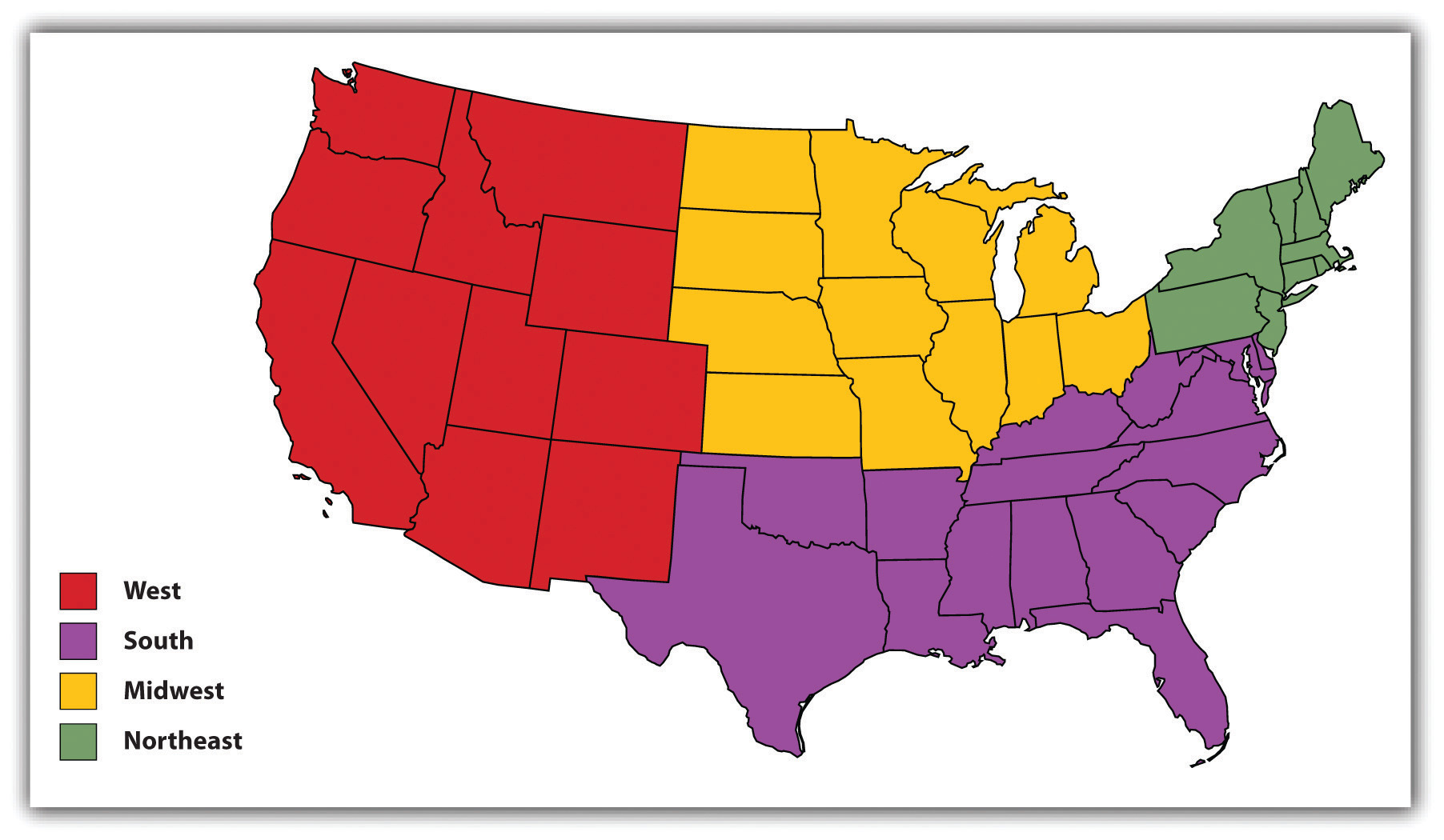 What Song Should Be Your Th Of July Anthem Playbuzz - Usa map 4 regions