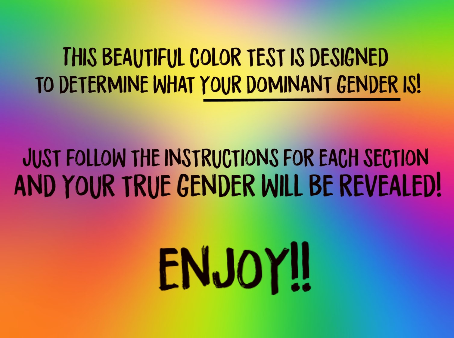 Beautiful Color this beautiful color test can determine your dominant gender