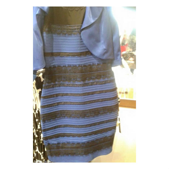 Is this dress white and gold or black and blue