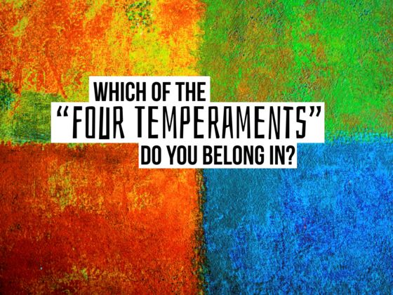 The four personality temperaments