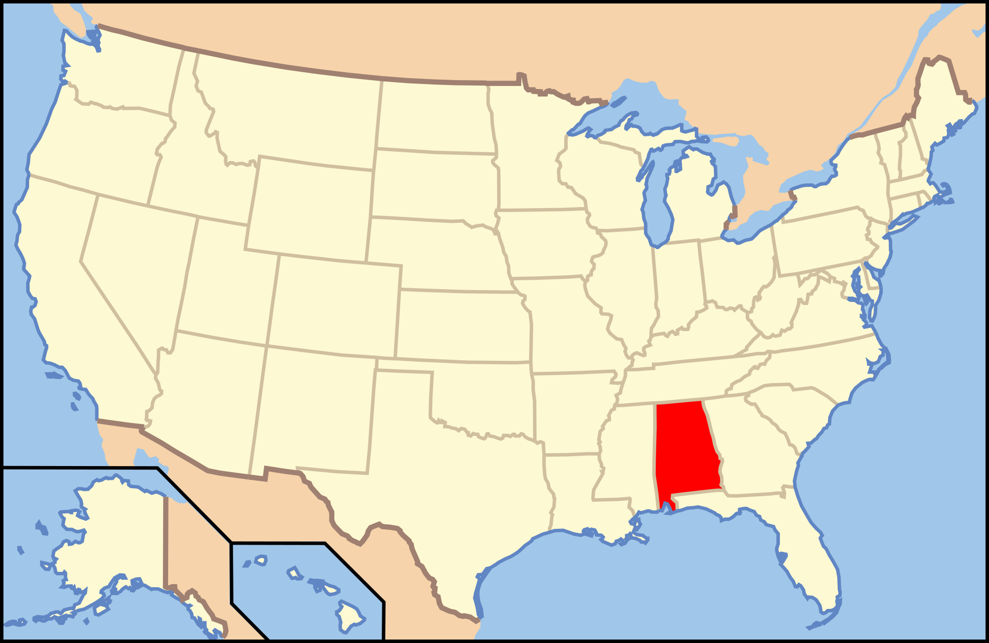 US Capital Quiz Playbuzz - Alabama in us map