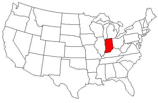 Indiana Location On The US Map FileMap Of USA INsvg Wikimedia - Indiana on us map