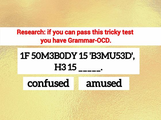 Only People With Grammar-OCD Passed This Test