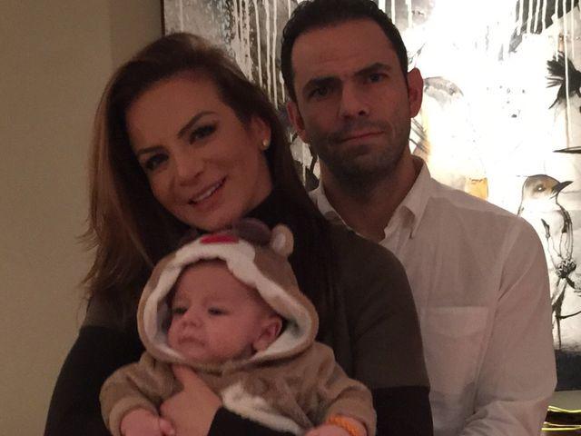 Silvia Navarro and Gerardo Casanova with their child, son Leon