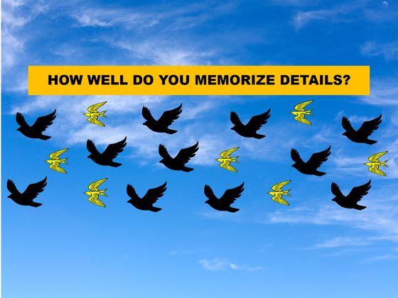 We Can Guess Your Age By The Way You Memorize Details!