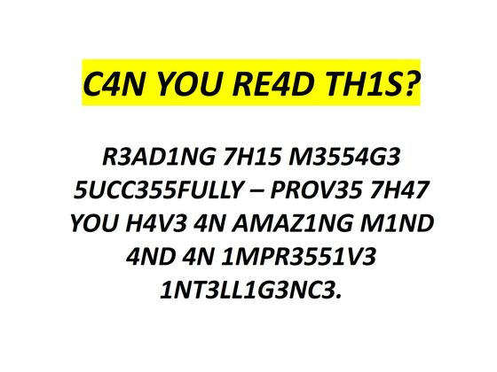 Only Certain Strong Minds Can Read And Answer These Questions