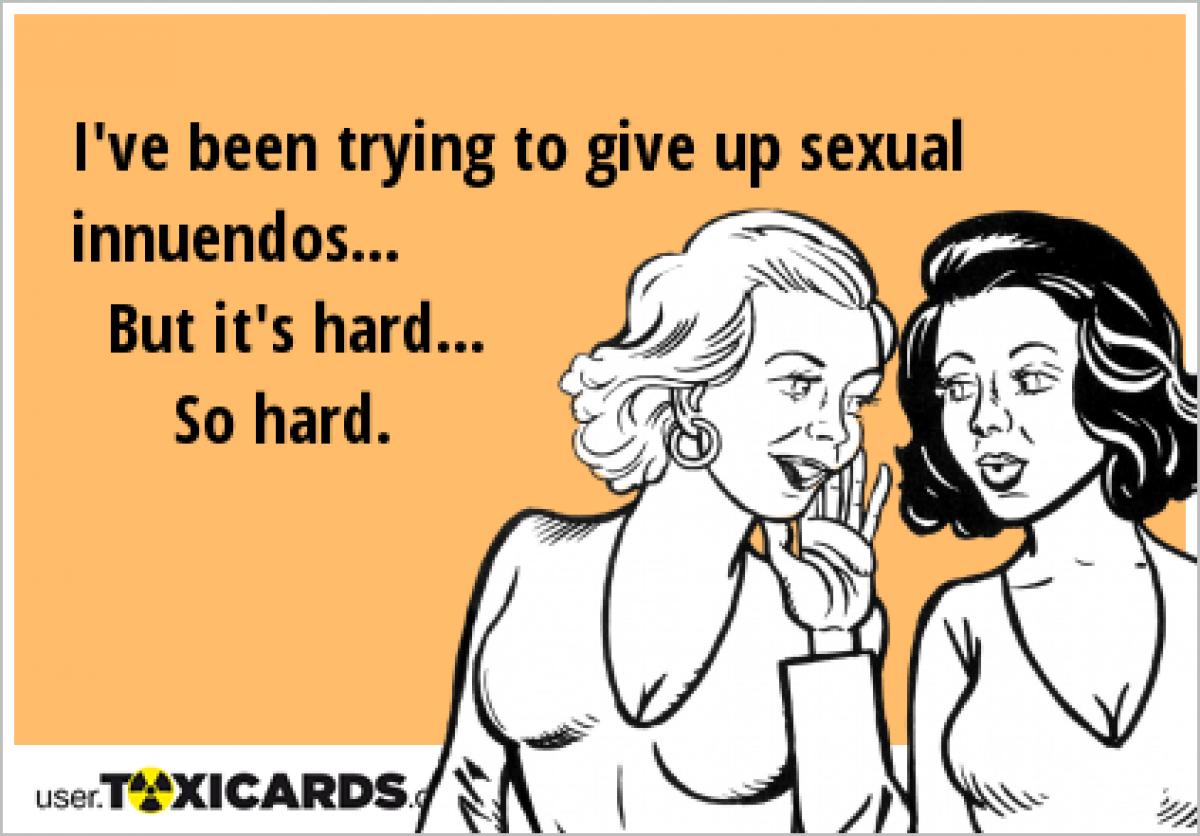 Sexual innuendo jokes