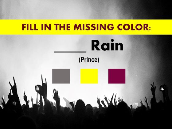 Only A Rock Genius Will Be Able To Nail This Color Test