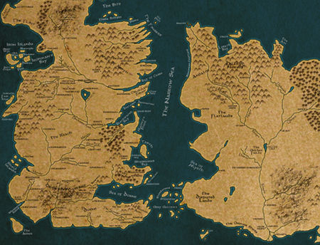 World Map Game Of Thrones