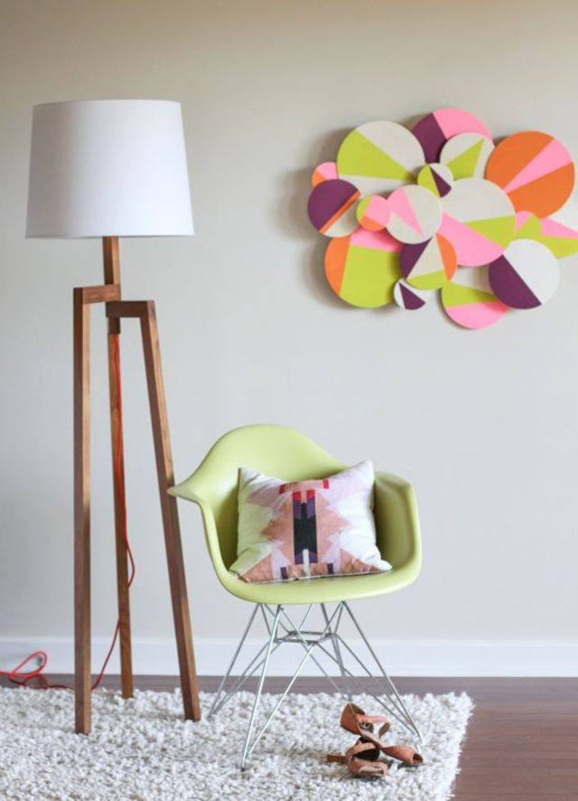 3d colorblock wall art gif to