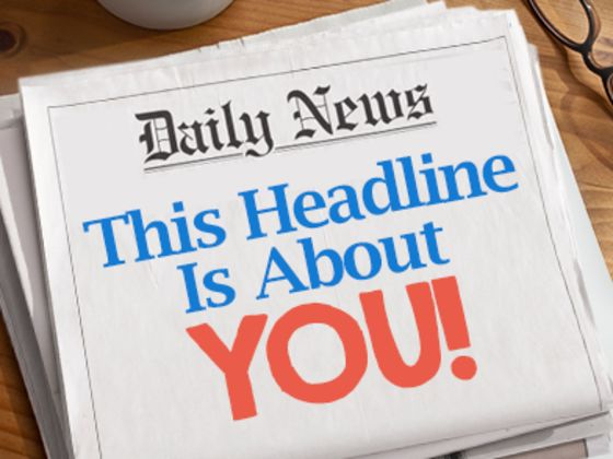 what would be your headline in a newspaper playbuzz