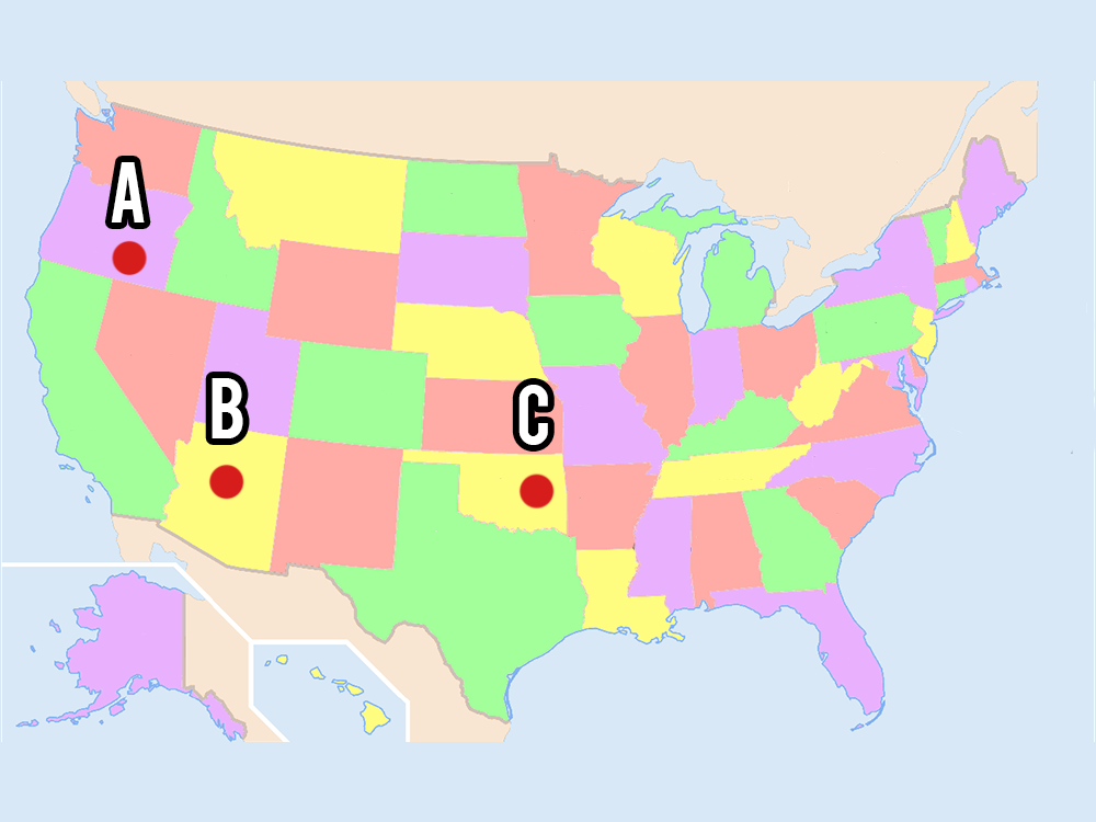 Can You Place The US State On A Map Playbuzz - Where is arizona
