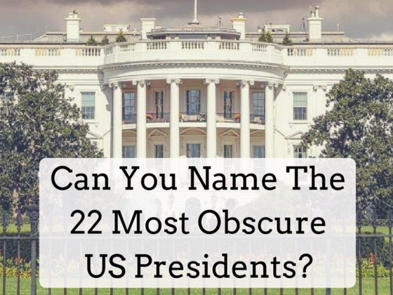 How Many Obscure US Presidents Can You Name?