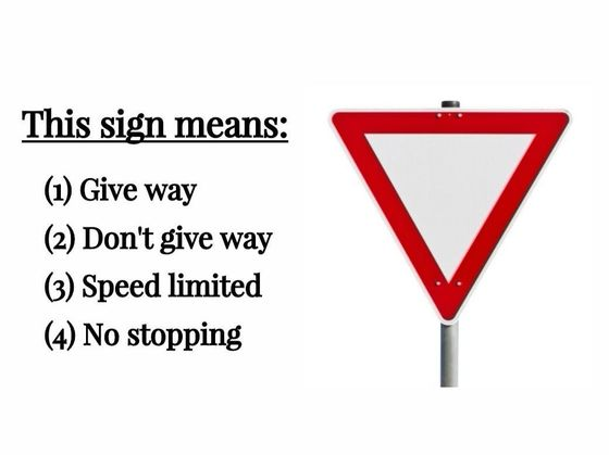 Research Shows Only People With Superior Memory Can Pass A Basic Road Signs Test