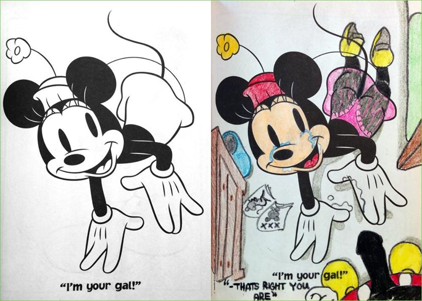 Coloring Book Corruptions For Adults