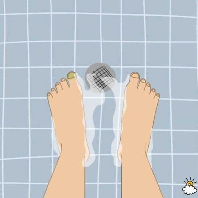 No frotarse los pies