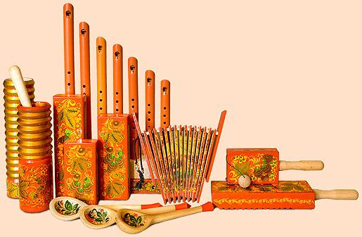 Рисунки с русскими народными инструментами