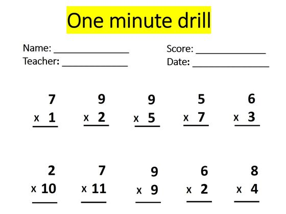 Can You Pass This One Minute Math Drill Without A Single Mistake ...