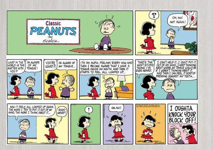 Comic peanut strip