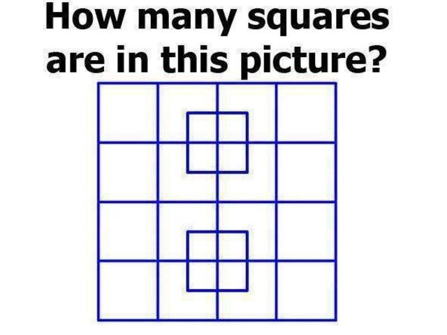 How Many Squares Are In The Picture Playbuzz