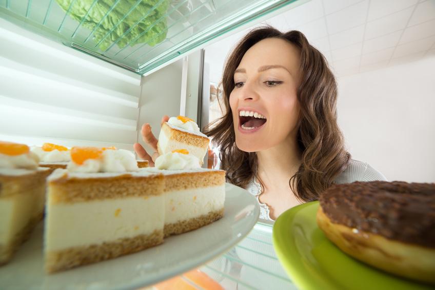 Hasil gambar untuk eating from refrigerator