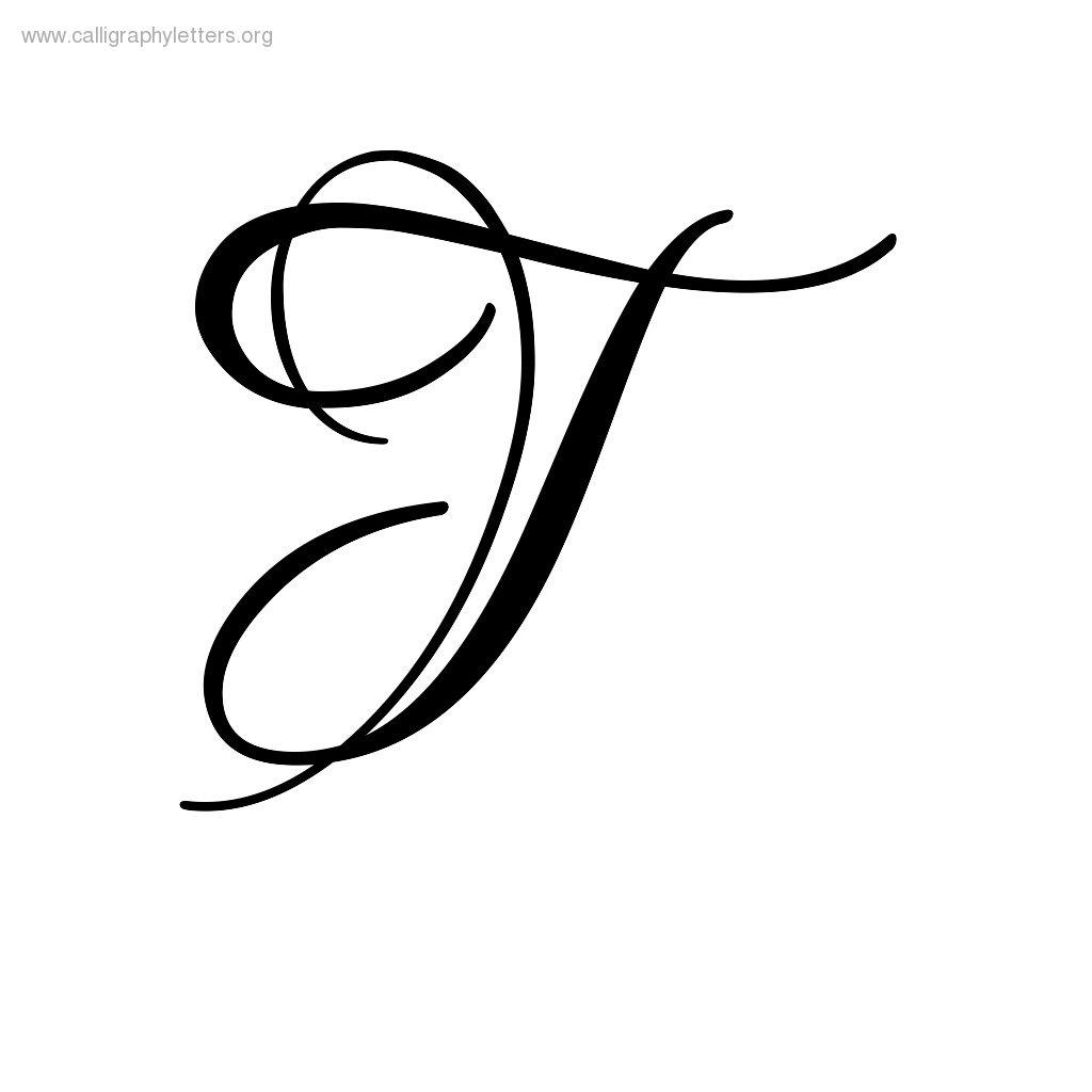 Script Letter T