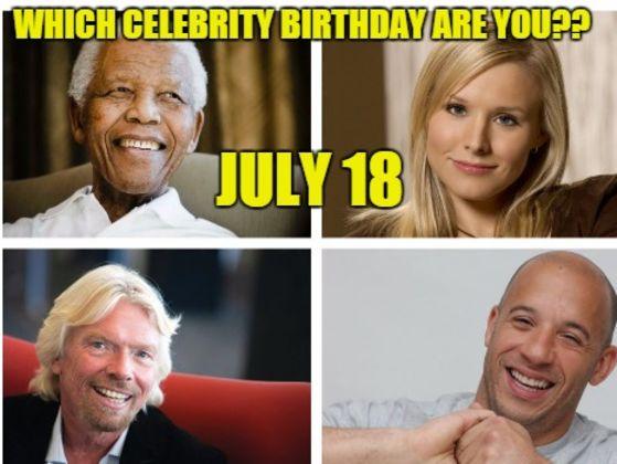 July Celebrity Birthdays | Fandango