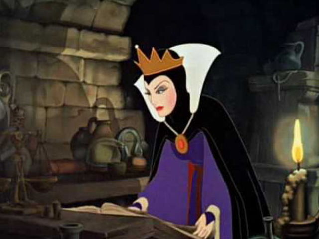 In the Snow White story, what fate befalls Snow White's step-mother?