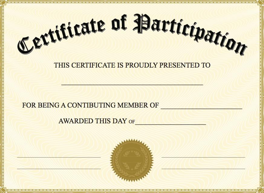 Make A Certificate Template Zrom