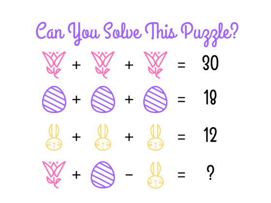 These Tricky Spring Math Puzzles Will Stump Even The Most Brilliant Thinkers!