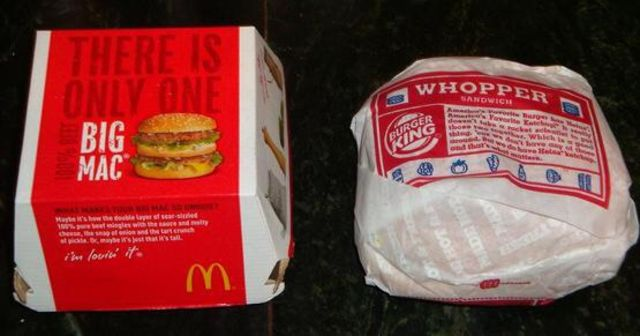 big mac vs whopper What's the difference between a big mac and a whopper  mcdonald's big mac,  preference between big mac and whopper depends most on branding and exposure.
